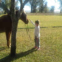 "HIja de Adeline con Estrellita / Adeline´s daughter with ""Estrellita"""
