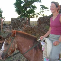 Turista cabalgata a La Tapera / Tourist horseriding to the tapera